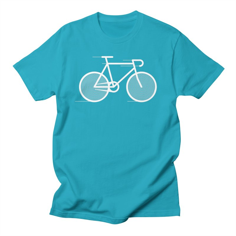 Hypnobike in Men's Regular T-Shirt Cyan by SHIRT MUST GO ON