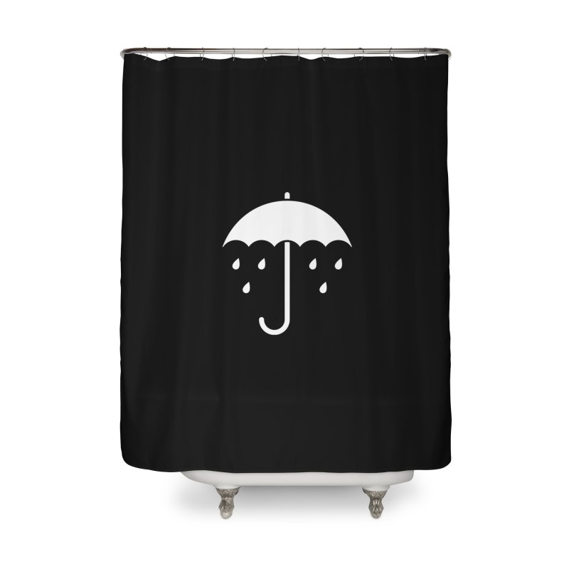 Sad Umbrella Home Shower Curtain by SHIRT MUST GO ON