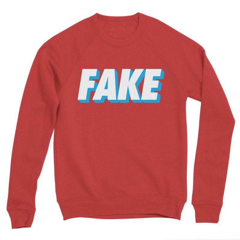 Fake Men's Sponge Fleece Sweatshirt by SHIRT MUST GO ON