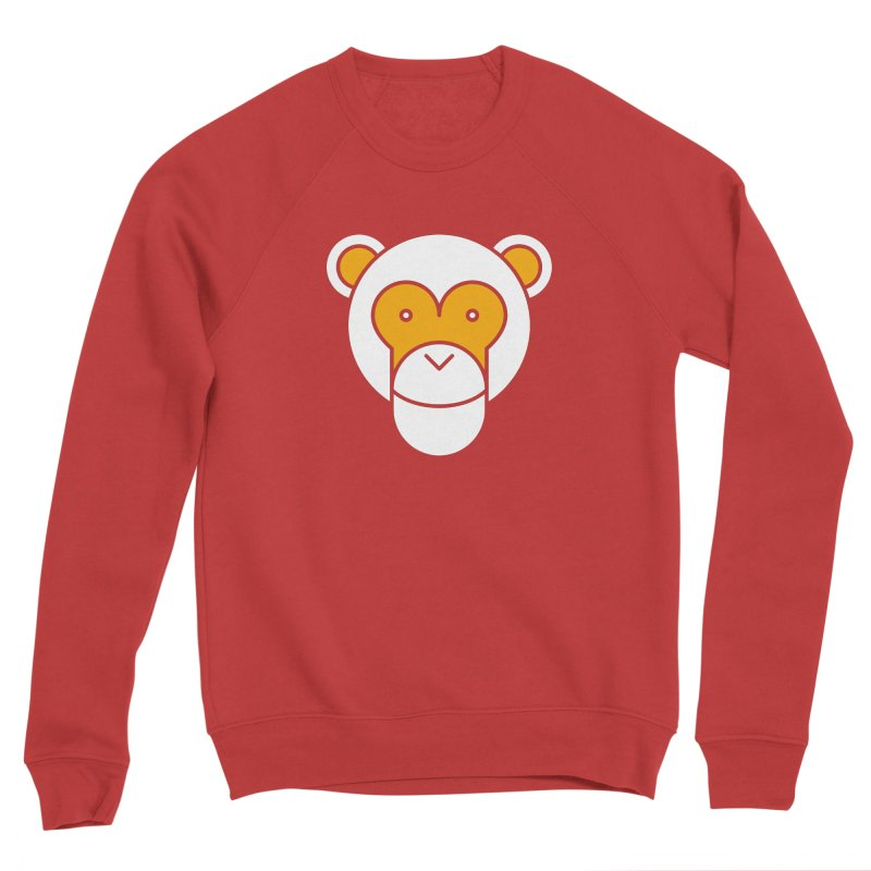 Monkeys Gonna Ape in Men's Sponge Fleece Sweatshirt Red by SHIRT MUST GO ON