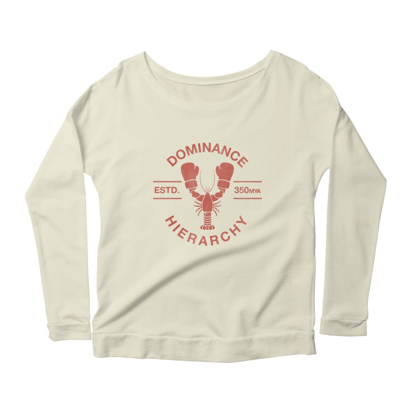 Top Lobster Women's Longsleeve Scoopneck  by Shirts of Meaning