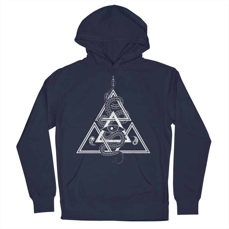 S(n)acred Geometry Women's French Terry Pullover Hoody by Shirts of Meaning