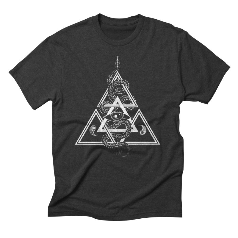 S(n)acred Geometry in Men's Triblend T-Shirt Heather Onyx by Shirts of Meaning