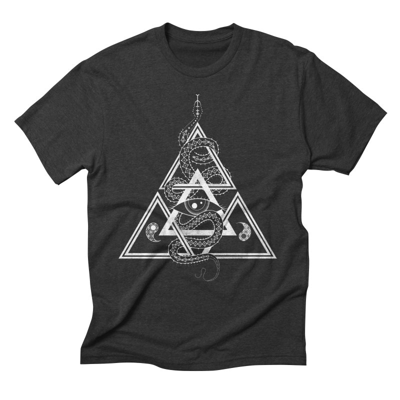 S(n)acred Geometry Men's Triblend T-shirt by Shirts of Meaning