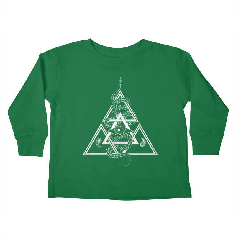 S(n)acred Geometry Kids Toddler Longsleeve T-Shirt by Shirts of Meaning