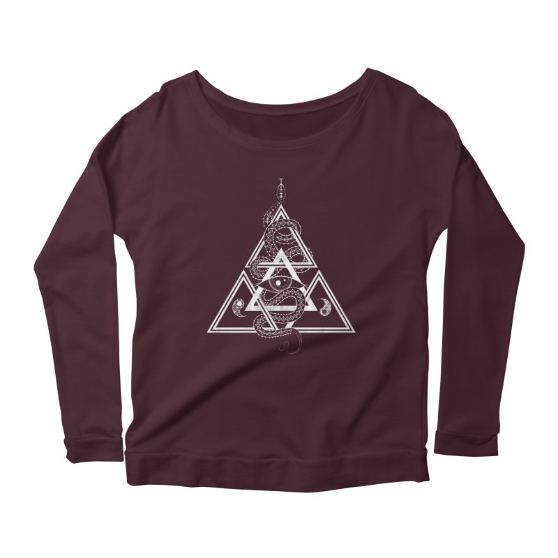 S(n)acred Geometry Women's Scoop Neck Longsleeve T-Shirt by Shirts of Meaning