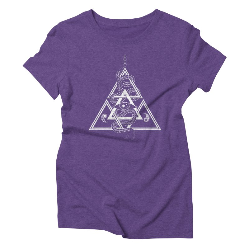 S(n)acred Geometry Women's Triblend T-shirt by Shirts of Meaning