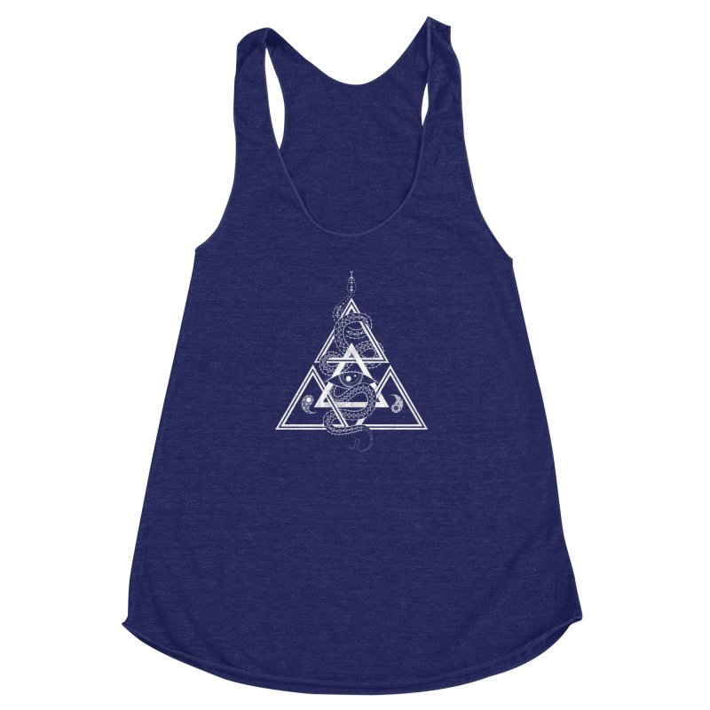 S(n)acred Geometry Women's Racerback Triblend Tank by Shirts of Meaning