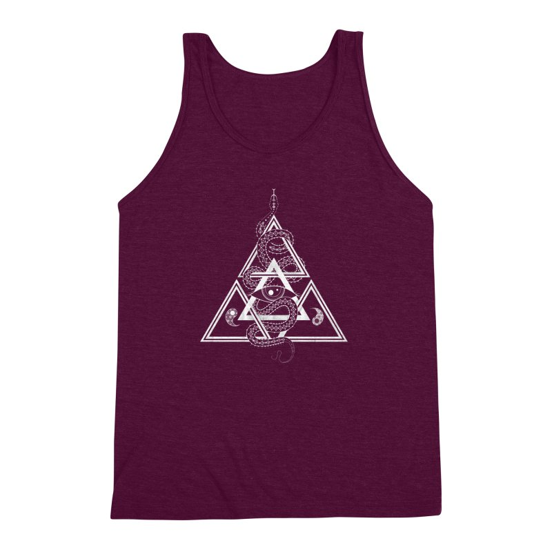 S(n)acred Geometry Men's Triblend Tank by Shirts of Meaning