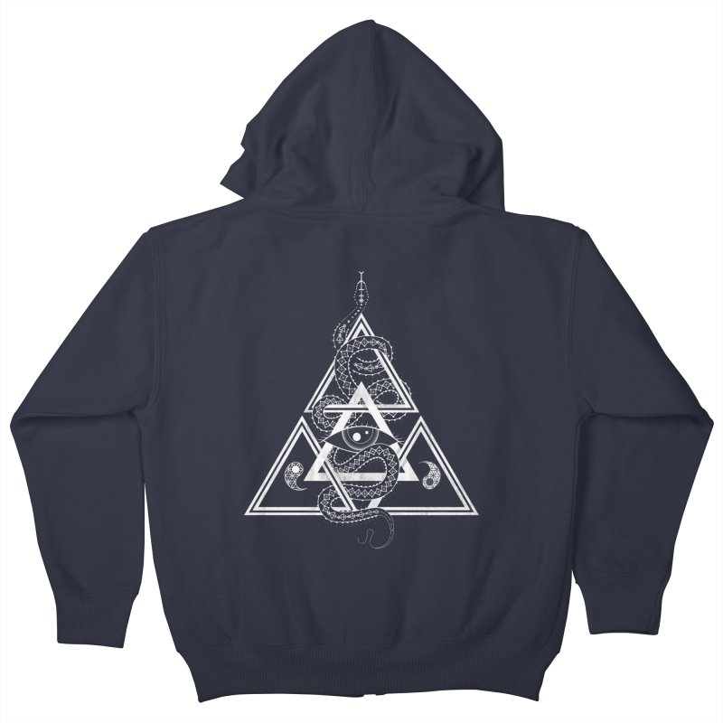 S(n)acred Geometry Kids Zip-Up Hoody by Shirts of Meaning