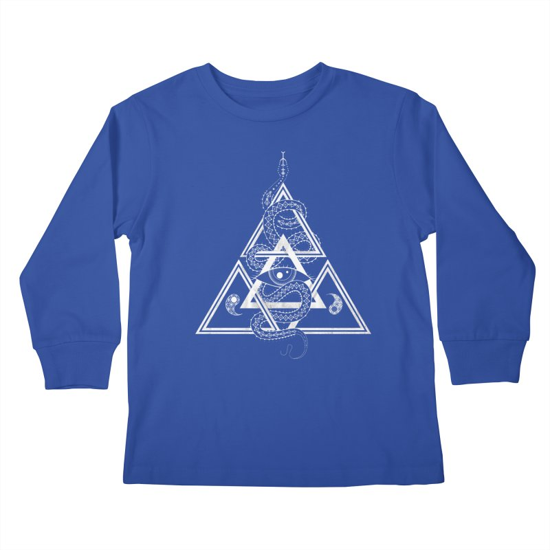 S(n)acred Geometry Kids Longsleeve T-Shirt by Shirts of Meaning