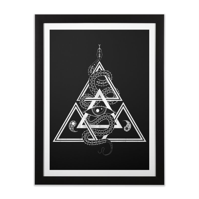 S(n)acred Geometry Home Framed Fine Art Print by Shirts of Meaning