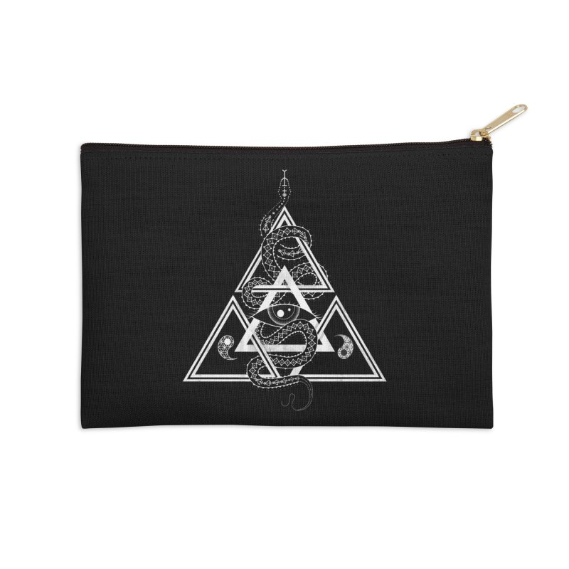 S(n)acred Geometry Accessories Zip Pouch by Shirts of Meaning