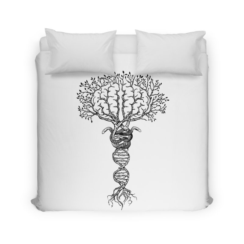 Suspicions of Consciousness Home Duvet by Shirts of Meaning