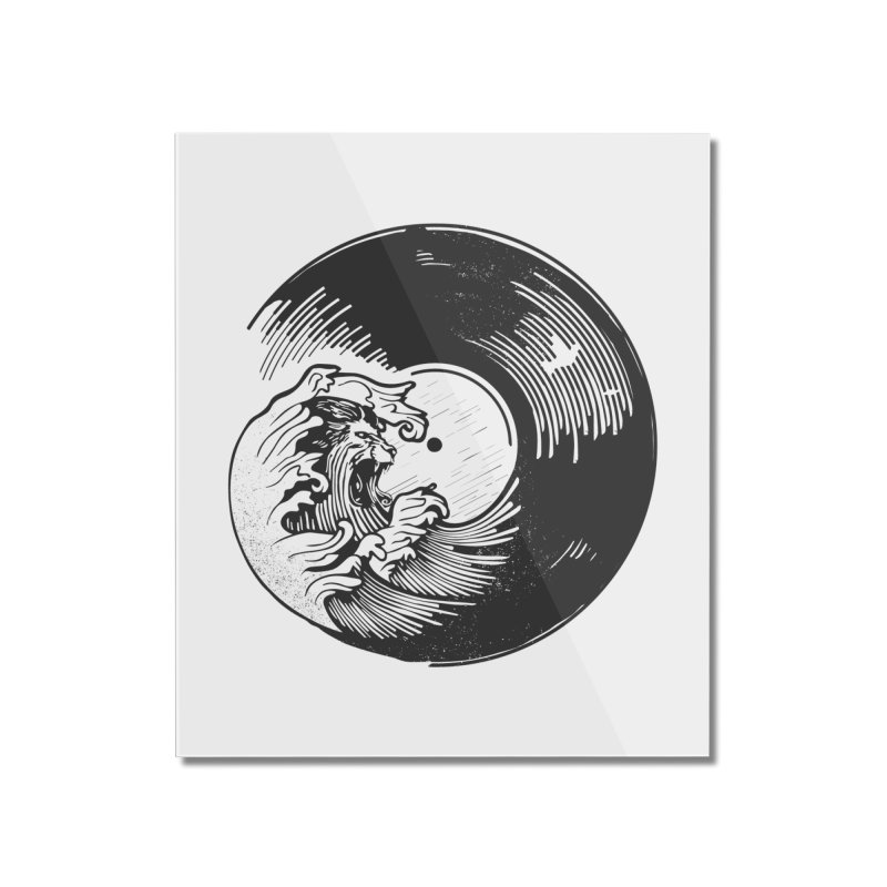 Breakers Roar Home Mounted Acrylic Print by Shirts of Meaning