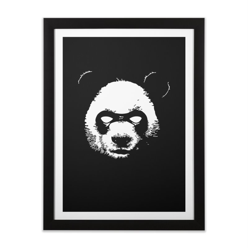 Disappointment Panda Home Framed Fine Art Print by Shirts of Meaning