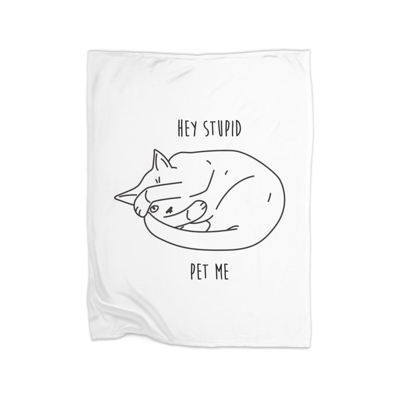 Rule 12: Pet a Cat Home Fleece Blanket Blanket by Shirts of Meaning