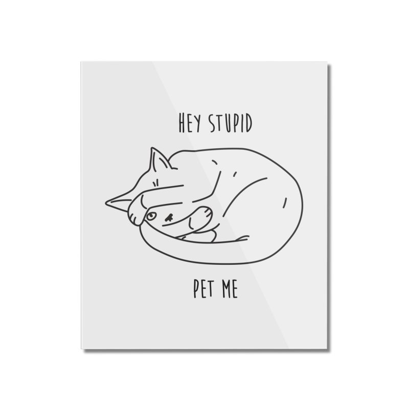 Rule 12: Pet a Cat Home Mounted Acrylic Print by Shirts of Meaning