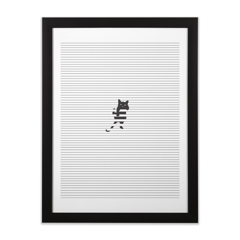Hang In There and Sort Yourself Out Home Framed Fine Art Print by Shirts of Meaning