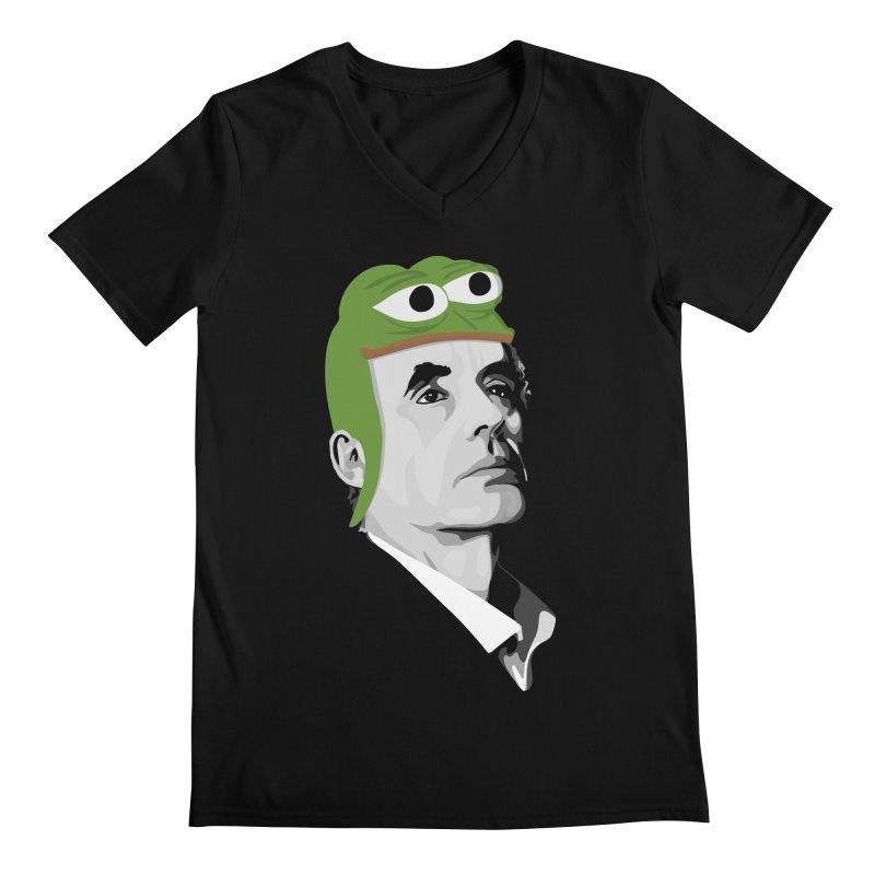 Jordan B Frog Men's Regular V-Neck by Shirts of Meaning