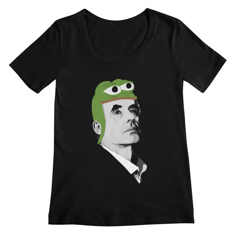 Jordan B Frog Women's Scoopneck by Shirts of Meaning