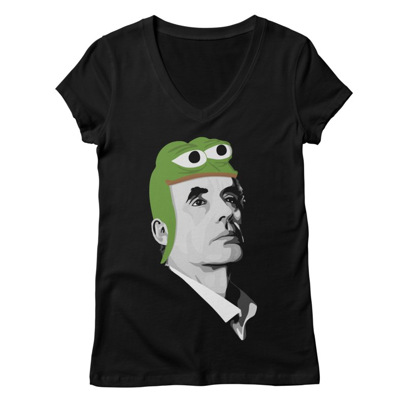 Jordan B Frog Women's Regular V-Neck by Shirts of Meaning
