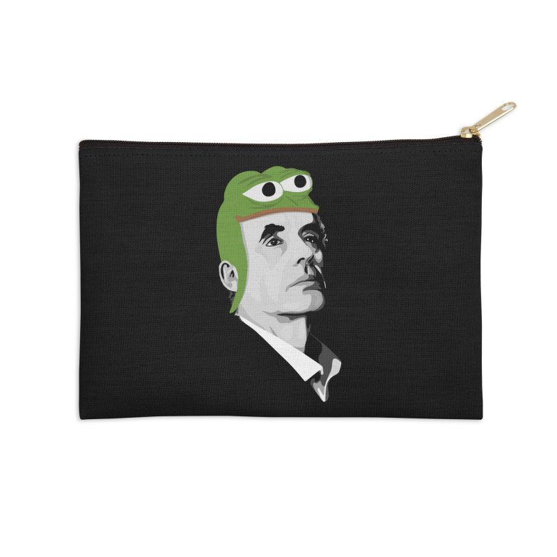 Jordan B Frog Accessories Zip Pouch by Shirts of Meaning