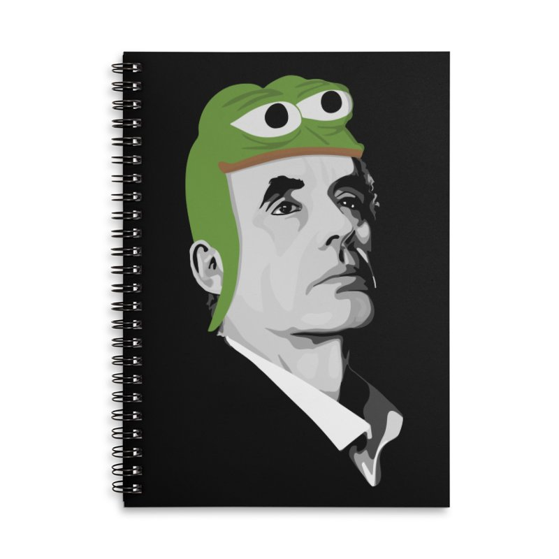 Jordan B Frog Accessories Lined Spiral Notebook by Shirts of Meaning