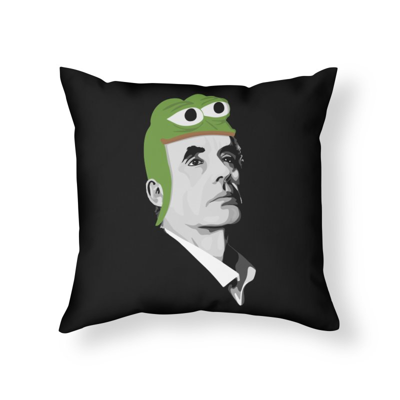 Jordan B Frog Home Throw Pillow by Shirts of Meaning