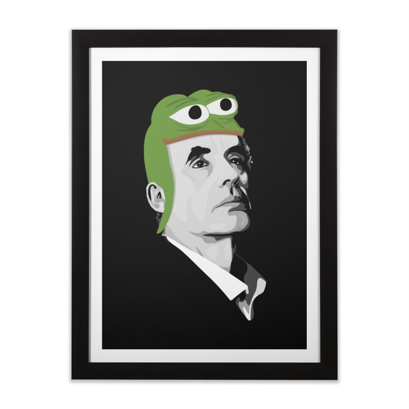 Jordan B Frog Home Framed Fine Art Print by Shirts of Meaning
