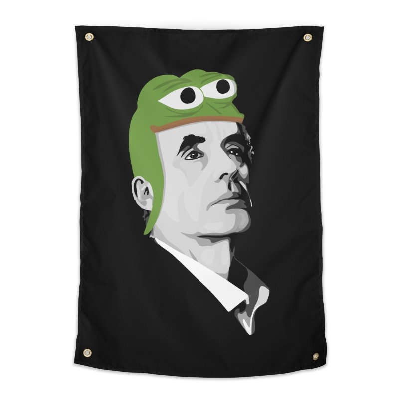 Jordan B Frog Home Tapestry by Shirts of Meaning