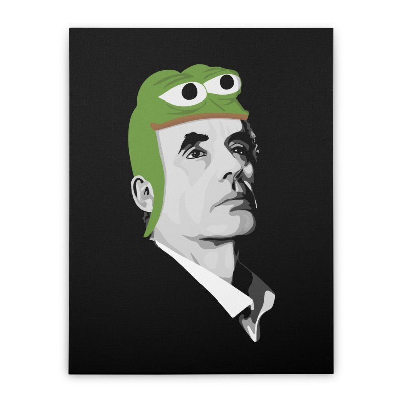 Jordan B Frog Home Stretched Canvas by Shirts of Meaning