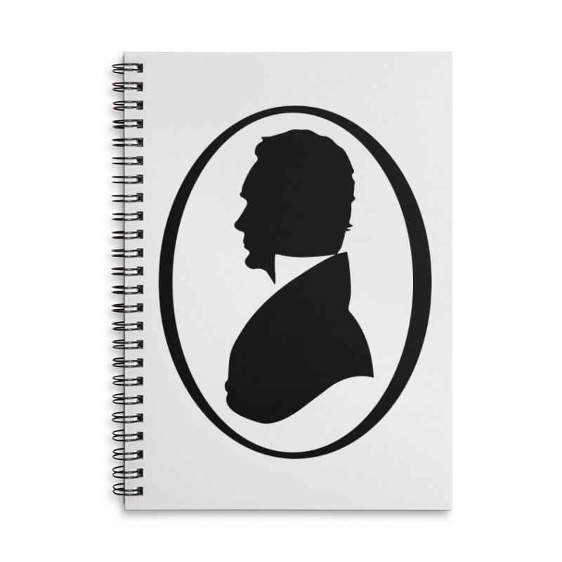 Thinker Accessories Lined Spiral Notebook by Shirts of Meaning