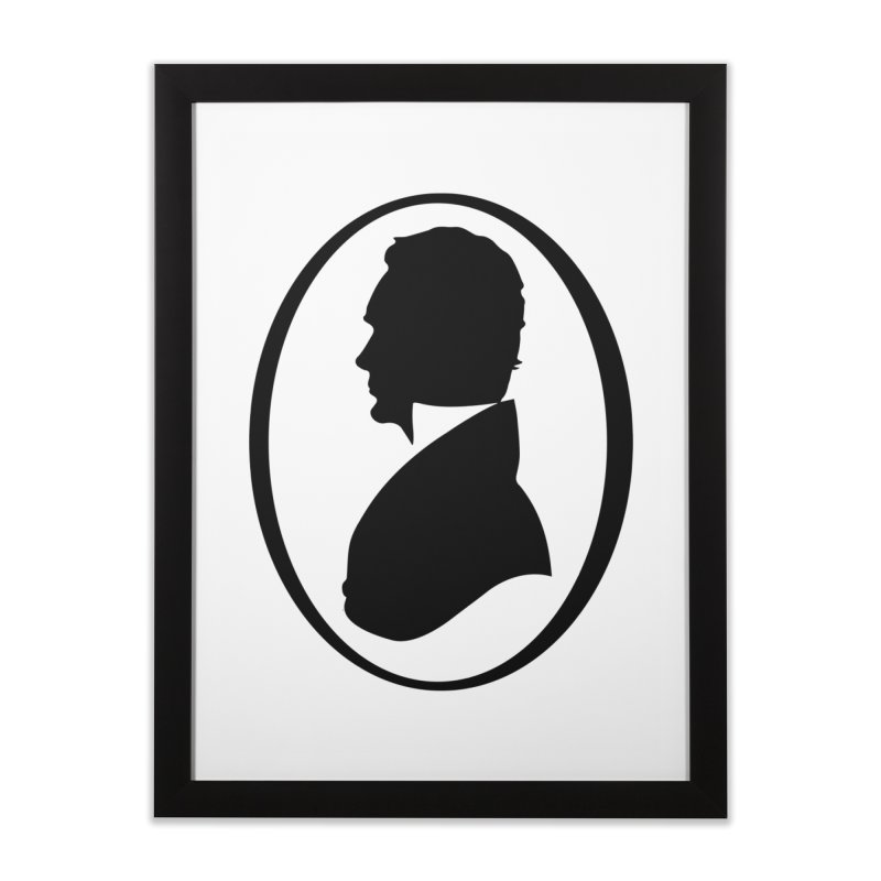 Thinker Home Framed Fine Art Print by Shirts of Meaning