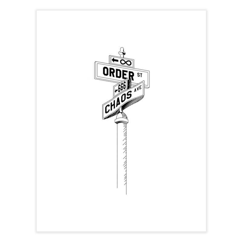 Meaning's Address Home Fine Art Print by Shirts of Meaning