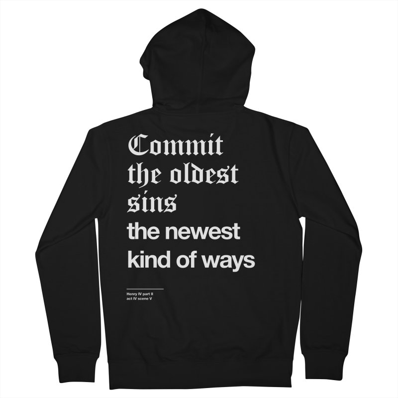 Commit the oldest sins Women's Zip-Up Hoody by Shirtspeare