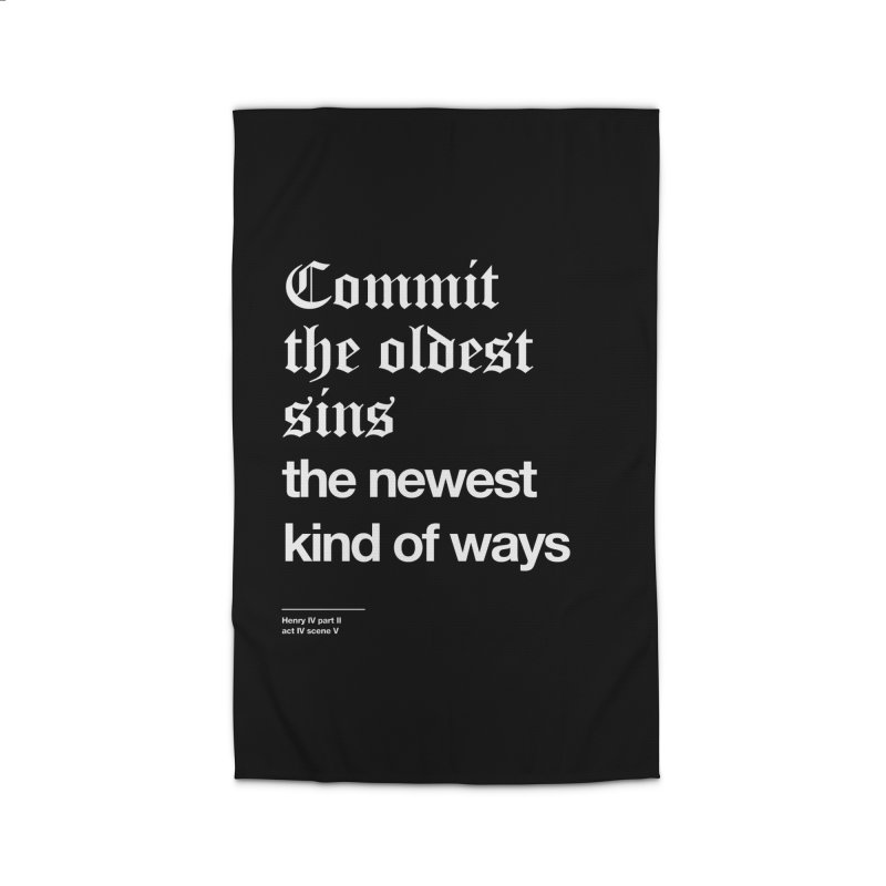 Commit the oldest sins Home Rug by Shirtspeare