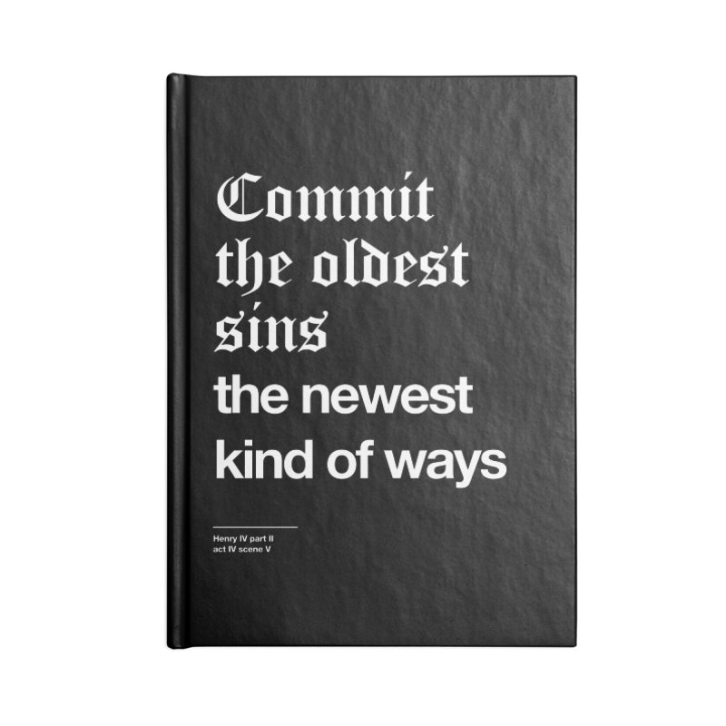 Commit the oldest sins Accessories Blank Journal Notebook by Shirtspeare