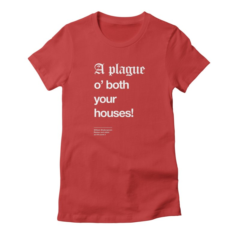 A plague o' both your houses! Women's Lounge Pants by Shirtspeare
