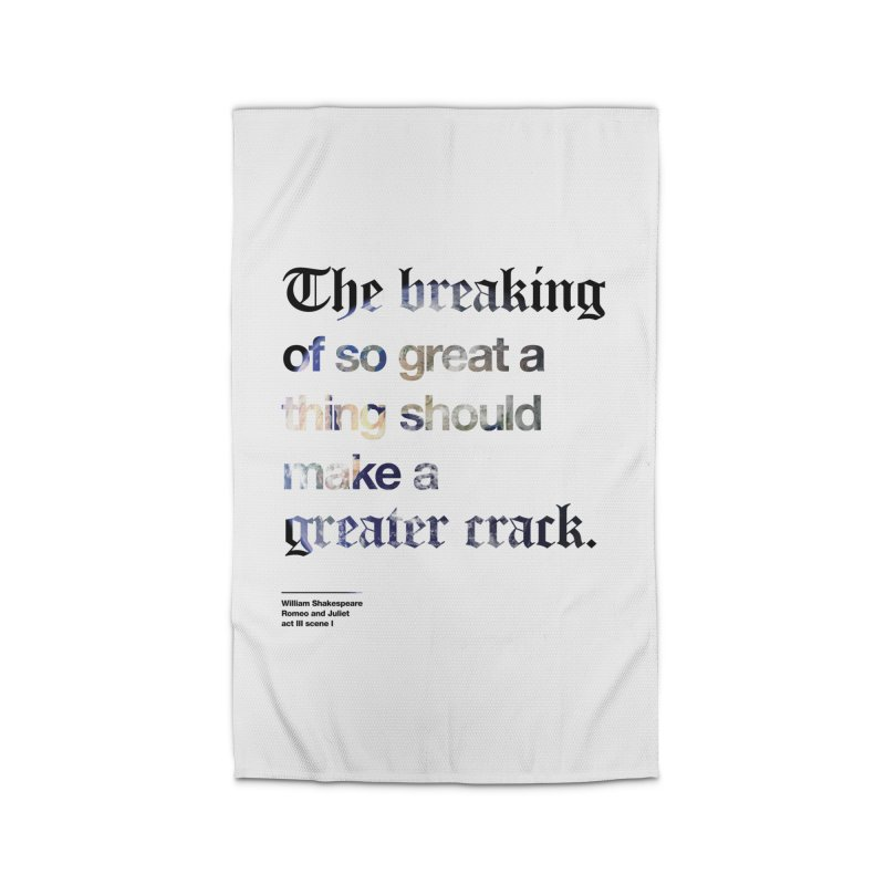 The breaking of so great a thing should make a greater crack (earth edition) Home Rug by Shirtspeare
