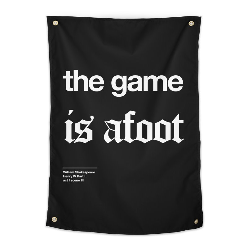 the game is afoot Home Tapestry by Shirtspeare