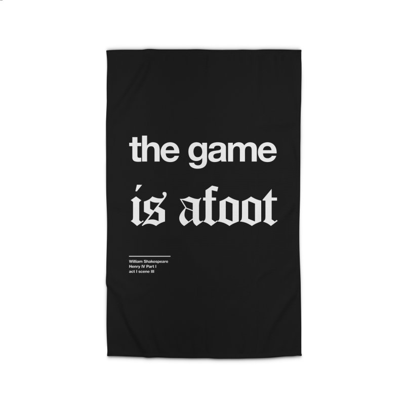 the game is afoot Home Rug by Shirtspeare