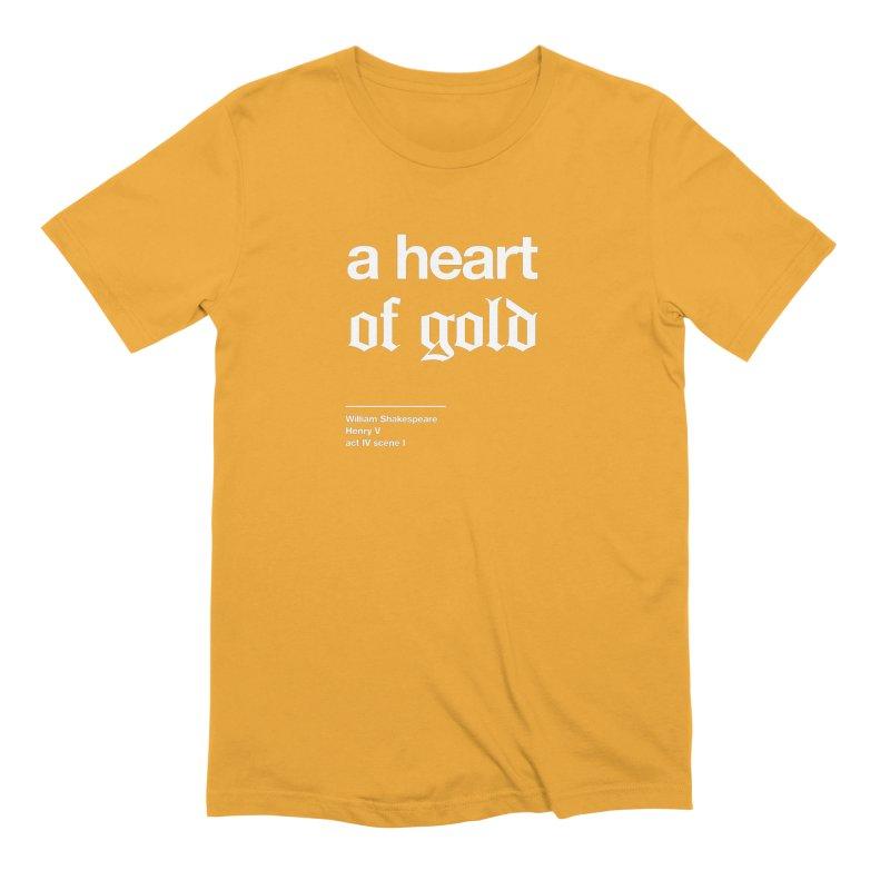 a heart of gold Men's Extra Soft T-Shirt by Shirtspeare