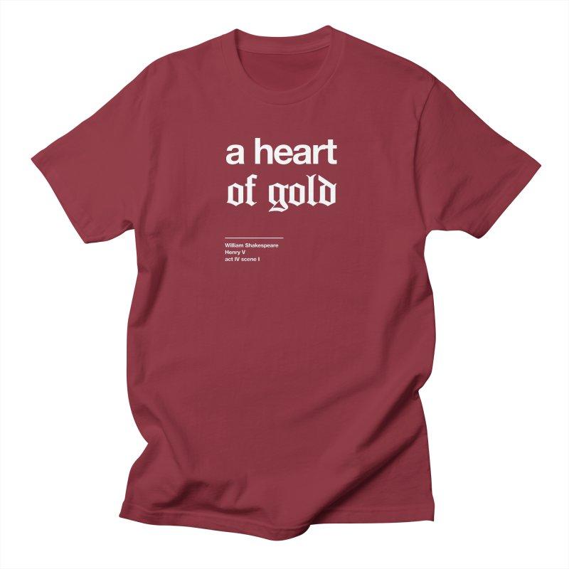 a heart of gold Men's T-Shirt by Shirtspeare