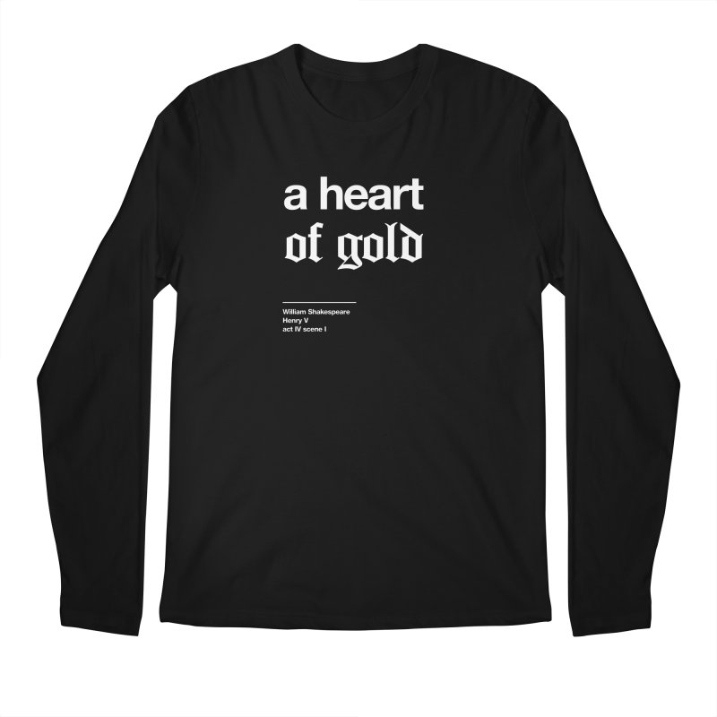 a heart of gold Men's Regular Longsleeve T-Shirt by Shirtspeare