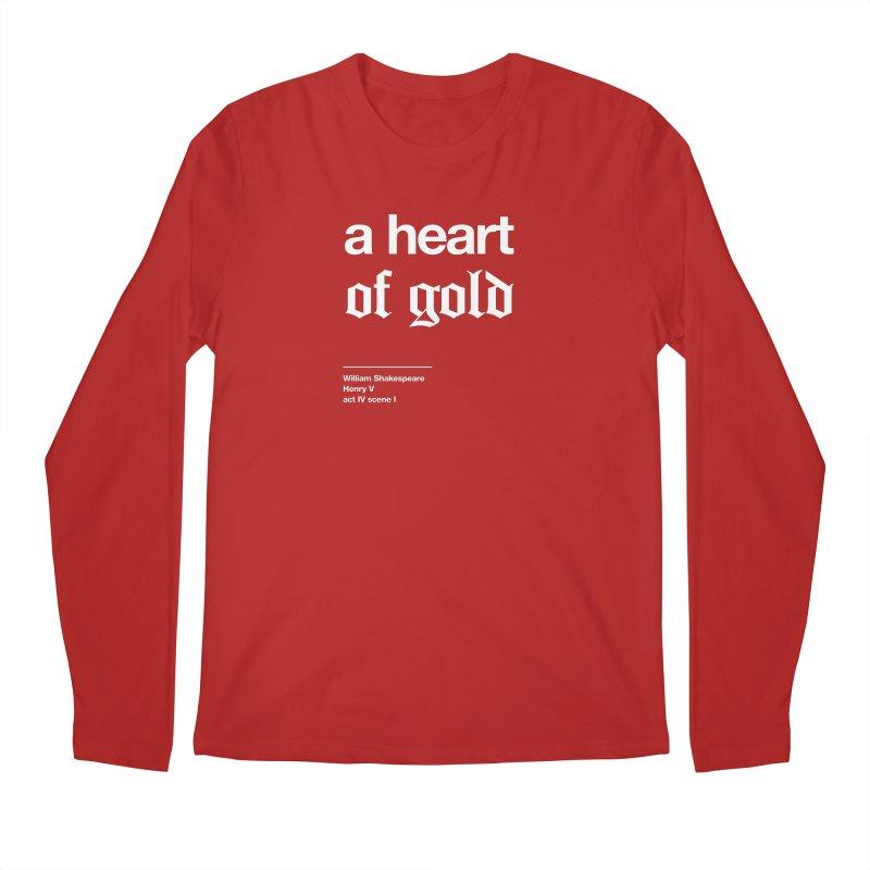 a heart of gold Men's Longsleeve T-Shirt by Shirtspeare