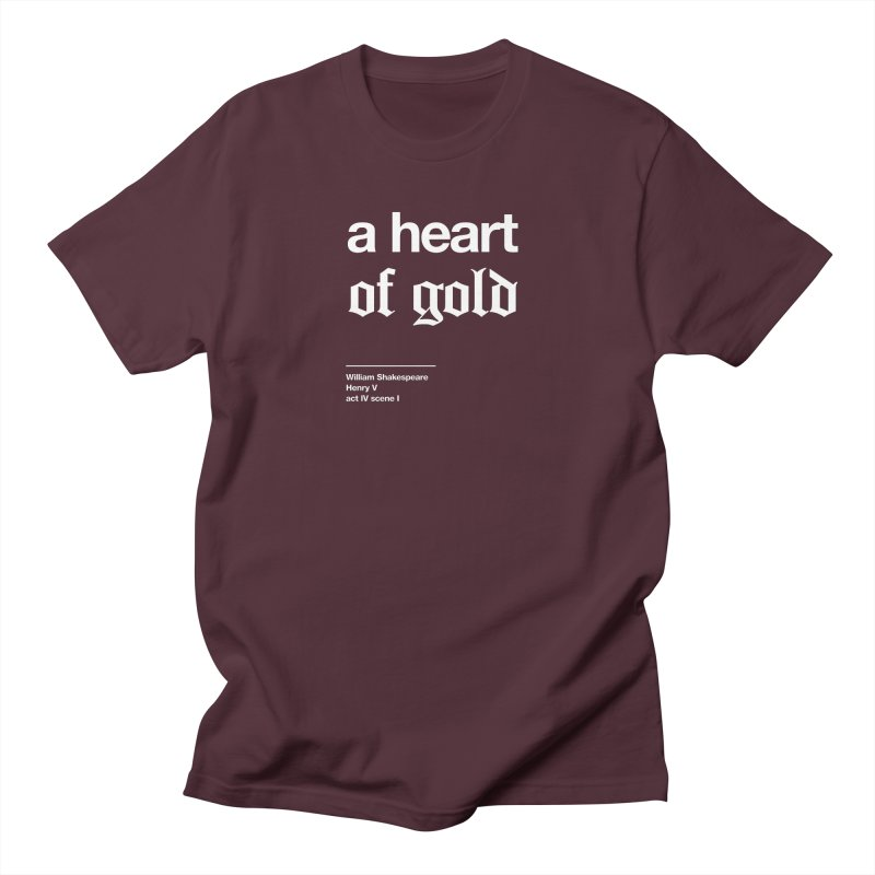 a heart of gold Men's Regular T-Shirt by Shirtspeare