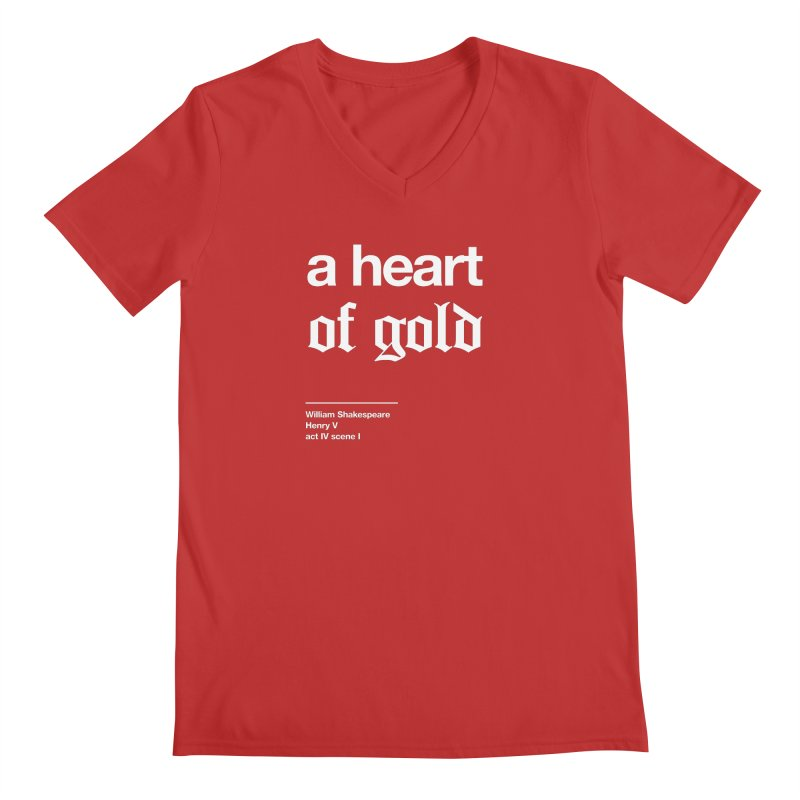 a heart of gold Men's Regular V-Neck by Shirtspeare