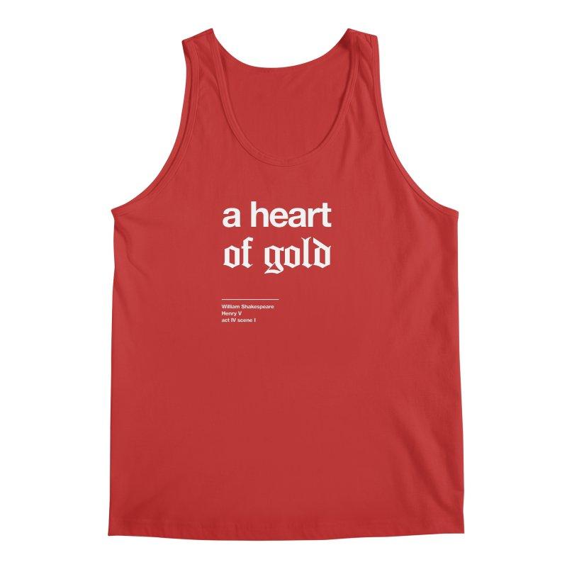 a heart of gold Men's Regular Tank by Shirtspeare