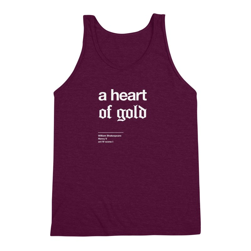a heart of gold Men's Triblend Tank by Shirtspeare
